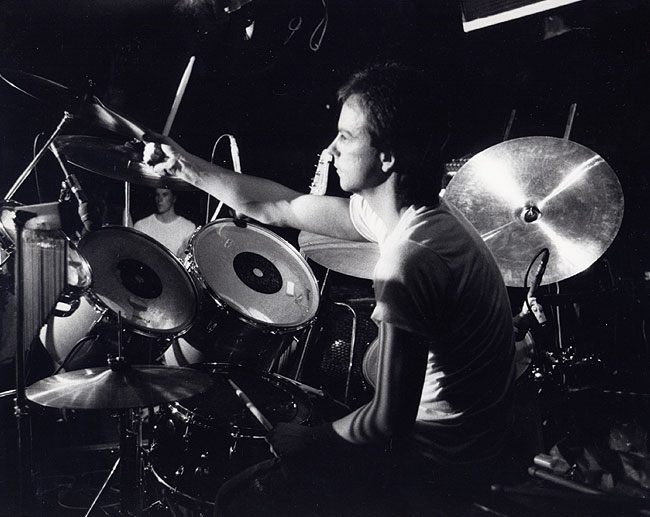 Graham Collins on stage at the Marquee Club, London 1985