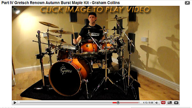 Part IV Gretsch Renown Autumn Burst Maple Kit - Graham Collins