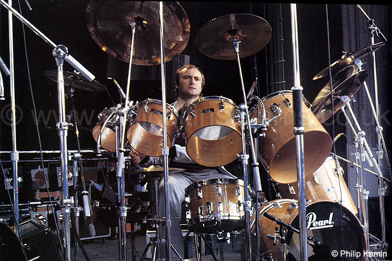 Phil Collins Pearl BLX Birch Custom Concert Tom Kit - Genesis Soundcheck, Sartoga Springs 1982 - Image © Philip Kamin