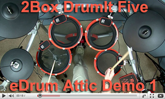 2Box DrumIt Five At eDRUM ATTIC